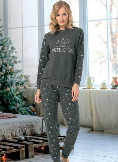 Nbb Pijama Takım Antrasit